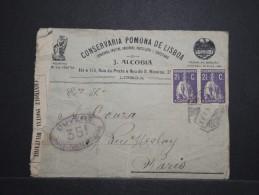 PORTUGAL - Enveloppe ( Avec Plis) Pour Paris Avec Controle Postal Militaire - A Voir - Lot P14529 - 1910-... République