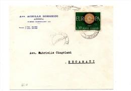 BOL1784 - REPUBBLICA ,  30 Lire Europa Cept Isolato Su Lettera Del 14/11/60 - 1946-60: Storia Postale