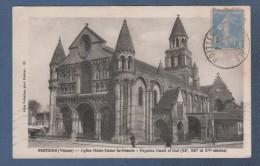 86 VIENNE - CP ANIMEE POITIERS - EGLISE NOTRE DAME LA GRANDE  FACADES OUEST ET SUD XIe XIIe XVe Siècles - JULES ROBUCHON - Poitiers