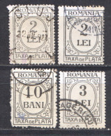 Rumänien; Portomarken, 1920/26; Michel 53/60 O; 3 Werte; Bild3 - Portomarken