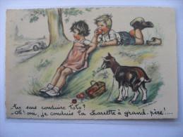 CPA -  Germaine BOURET -   Tu Sais Conduire Toto ?    Éditeur M.D. Paris N° 71  Carte écrite - Bouret, Germaine