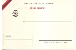 Postal Nacional. Guerra Civil.ARRIBA ESPAÑA!. MAGNIFICA.. - Emissioni Nazionaliste