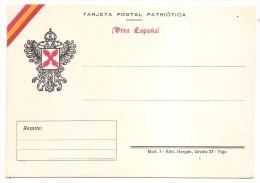 Postal Nacional. Guerra Civil  .VIVA ESPAÑA  . MAGNIFICA.. - Nationalist Issues
