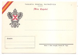 Postal Nacional. Guerra Civil  .VIVA ESPAÑA  . MAGNIFICA.. - Emissioni Nazionaliste