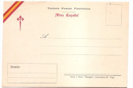 TARJETA POSTAL PATRIOTICA   VIVA ESPANA. MAGNIFICA.. - Emissions Nationalistes
