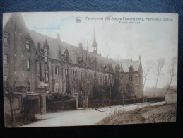 Cpa/pk  Merelbeke Meirelbeke Pensionnat Franciscaines, Meirelbeke Station - Merelbeke