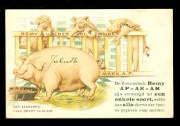 Reclame  Publicité  Carte Publicitaire :  Cochon  - REMY ' S Voeder Voor Zwijnen  ( Zwijn Varkens Varken ) - Werbepostkarten