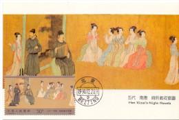 CHINA HAN XIZAI´S NIGTH REVELS MAXIMUN  POST CARD (max0100) - Cina