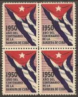 BANDEIRA CUBA - 1950 CENTENARIO DE LA BANDERA - Sellos