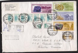 RUSSIA USSR - Postal History Big Cover Registered Used 2001 With Many Different Stamps - Covers & Documents