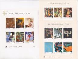 3 BLOCS   MNH**  PORTUGAL  PEINTURE  TABLEAUX - Stamps
