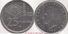 SPAGNA 25 Pesetas 1980 (FIFA World Cup Of Spain) KM#818 - Used - [ 5] 1949-… : Royaume