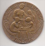 JUDAICA. Bronzen Medaille Voor Joodse Kinderen, 1945  - Met Oorspronkelijk Doosje - Non Classés