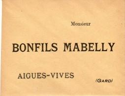 BONFILS  MABELLY.....AIGUES VIVES..GARD.....VINS ET SPIRITUEUX.....ENVELOPPE.... - Aigues-Vives