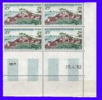 Côte D'Ivoire  Bloc De 4  Coin Daté    N°206  1962 Neufs** - Ivoorkust (1960-...)