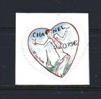 N° 39 -   ( 0.75 € )   Coeur De Karl Lagerfield  Chanel - France