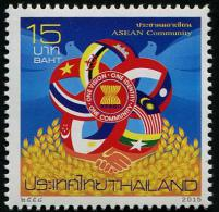 THAÏLANDE 2015 - ASEAN, Drapeaux Pays Membres - 1 Val Neufs // Mnh - Thailand