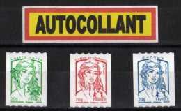 """""""MARIANNE DE LA JEUNESSE"""" Roulette Bleue + Rouge + Verte De Bobine De 500 Timbres - Coil Stamps"""