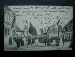 Cpa/pk Melle Appelhoek Pendant La Kermesse 1905 - Melle