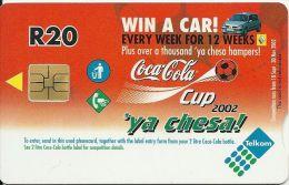 AFRIQUE DU SUD TELECARTE PHONECAR CHIP CARTE A PUCE COUPE FOOTBALL CUP 2002 SPONSORS COCA COLA RENAULT - Zuid-Afrika