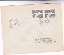 1957 SWEDEN United Nations FORCES In EGYPT COVER Pmk SVENSKA BATALJONEN EGYPT  Stamps Un - Sweden