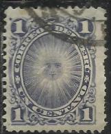 PERU´ 1886 1895 SUN GOD OF THE INCAS DIO SOLE CENT. 1 USATO USED OBLITERE´ - Peru