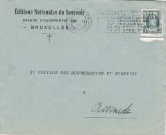 16097. Carta BRUXELLES (belgien) 1929. Editions Nationales Du Souvenir. Flame Foire Commerciale - Bélgica