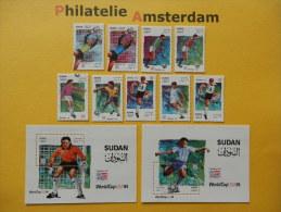Sudan 1995, FIFA USA / FOOTBALL SOCCER VOETBAL FUSSBALL FUTBOL CALCIO: Mi 481-89, + Bl. 490-91, ** - Wereldkampioenschap