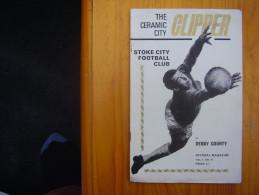 FOOTBALL 1969 LEAGUE PROGRAMME STOKE CITY V DERBY COUNTY - Vol 2  No.16. - Sports