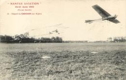 NANTES AVIATION 1910  DEPART DE CROCHON SUR BIPLAN - Piloten