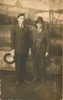 CARTE PHOTO BUENOS AIRES 1927  BARTOLO Y FRANCISCO VOIR LES 2 SCANS - Piloten