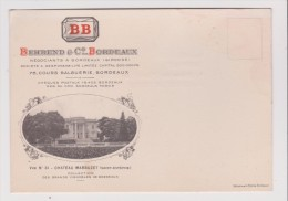 Carte - BEHREND & C BORDEAUX - CHATEAU MARBUZET  - Collection Des Grands Vignobles De Bordeaux  Vue N 31 - Bordeaux