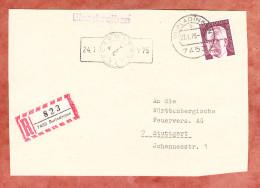 Einschreiben Reco, Heinemann, Burladingen Nach Stuttgart 1975 (82744) - Covers & Documents