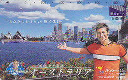 Carte Prépayée Japon - AUSTRALIE - Musique - OPERA DE SYDNEY - AUSTRALIA Japan Music Prepaid Card - Tosho Karte - 87 - Landschappen