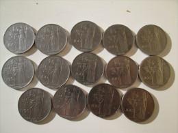 ITALY  100 Lire 1955 1956 1957 1958 1958 1962 1963 1965 1966 1967 1968 1969 1972 1973   # 3 - 100 Lire