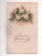 GLÜCKWÜNSCHE ZUR HOCHZEIT   -  LITHO  ~ 1920  KLAPPKARTE - Marriages