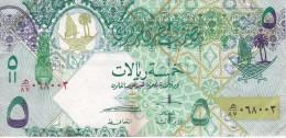 BILLETE DE QATAR DE 5 RIYALS DEL AÑO 2008 (BANKNOTE) CAMELLO-CAMEL-ORIX DEER - Qatar