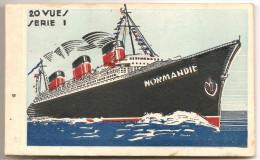 Cn2.h- Paquebot NORMANDIE Liner Carnet CPA Cie Gle Transatlantique French Line France - Steamers