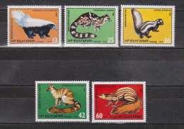BULGARIA 1985 FAUNA Exotic ANIMALS - Fine Set MNH - Otros
