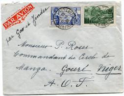 FRANCE LETTRE PAR AVION DEPART PARIS 15-1-38 POUR LE NIGER - Poste Aérienne