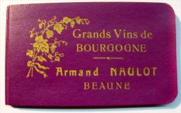CARNET PUBLICITAIRE GRANDS VINS DE BOURGONE ARMAND NAULOT BEAUNE ( VIOLET ) - Reclame