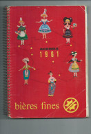 Agenda 1961 Bières Fines Des Brasseries De La Meuse. - Alcools