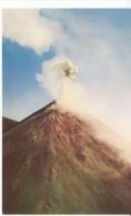 El Salvador, Volcan Izalco Volcano Eruption C1960s Vintage Postcard - El Salvador