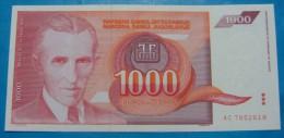 YUGOSLAVIA 1,000 DINARA 1992 UNC. Pick-114. NIKOLA TESLA. - Yougoslavie