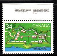 Canada MNH Scott #1052 34c Fort York - With Descriptive Selvedge - 1952-.... Règne D'Elizabeth II