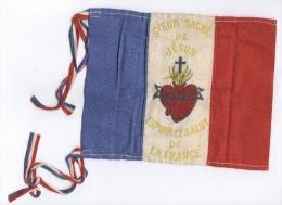 """Drapeau """" Coeur Sacré De Jesus - Espoir Et Salut De La France """" Circa 1915 - 14,5 X 18 Cm - Drapeaux"""
