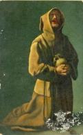 7-esp375. Postal Religiosa. Monje Franciscano. Zurbaran - Otros