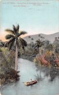 """03344 """"ISLE OF PINES - CASAS RIVER & MOUNTAIN - NUEVA GERONA - RIO CASAS""""  ANIMATA. CART. SPED. 1910 - Cuba"""