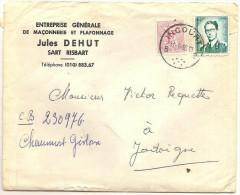 Lettre D'Incourt (Sart Risbart) Vers Jodoigne 31/1/65 (Ja 23) - 1953-1972 Brillen