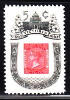 Canada MNH Scott #399i 5c 1860 BC Postage Stamp - Centenary Of Victoria, BC - 1952-.... Règne D'Elizabeth II